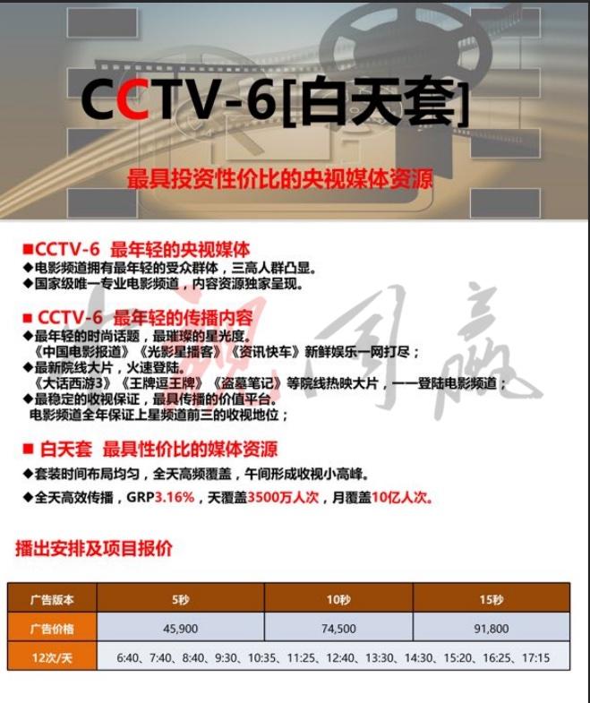 2019年CCTV-6白天套@中视同赢